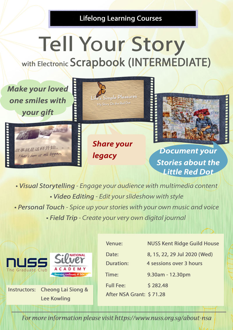 NUSS Tell Your Story with eScrapbook - Intermediate