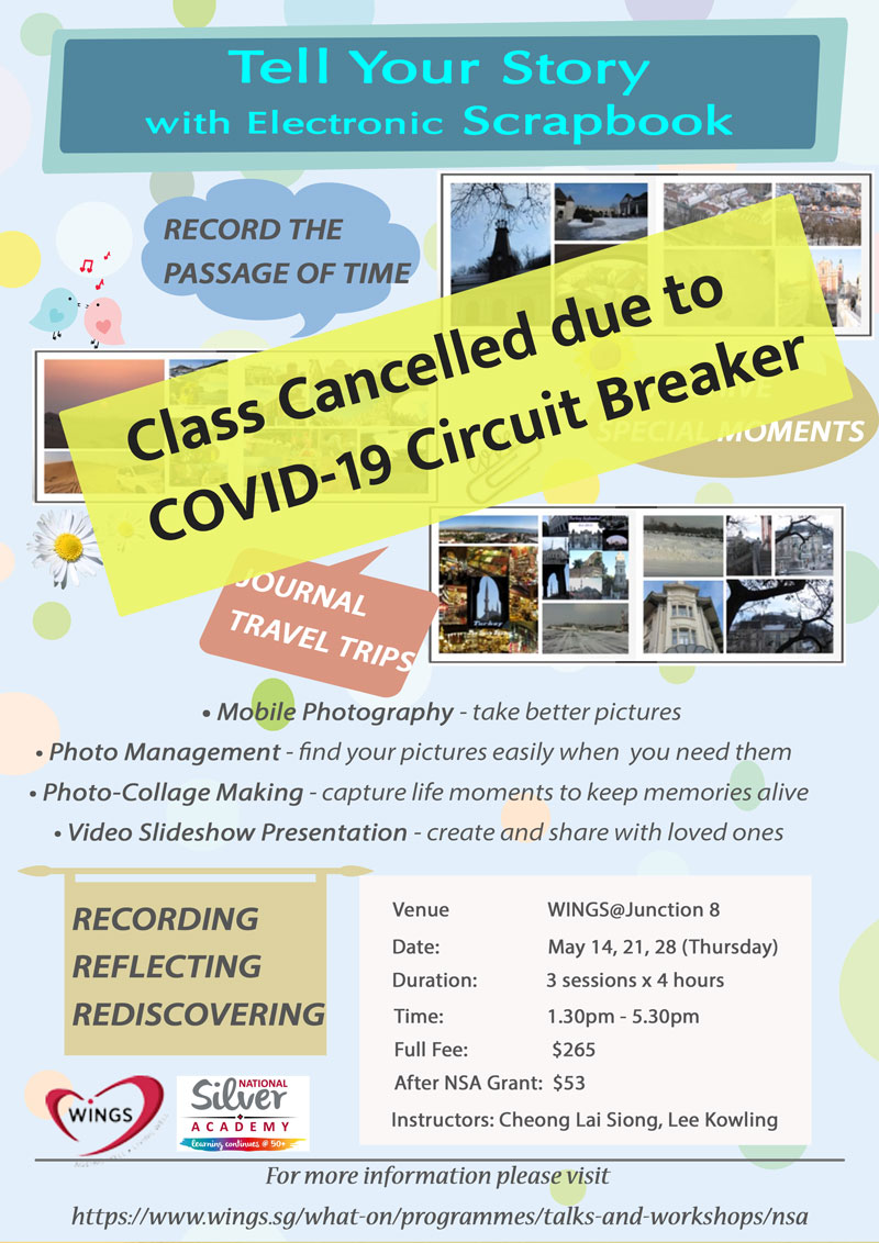 WINGS Class cancelled due to Circuit Breaker