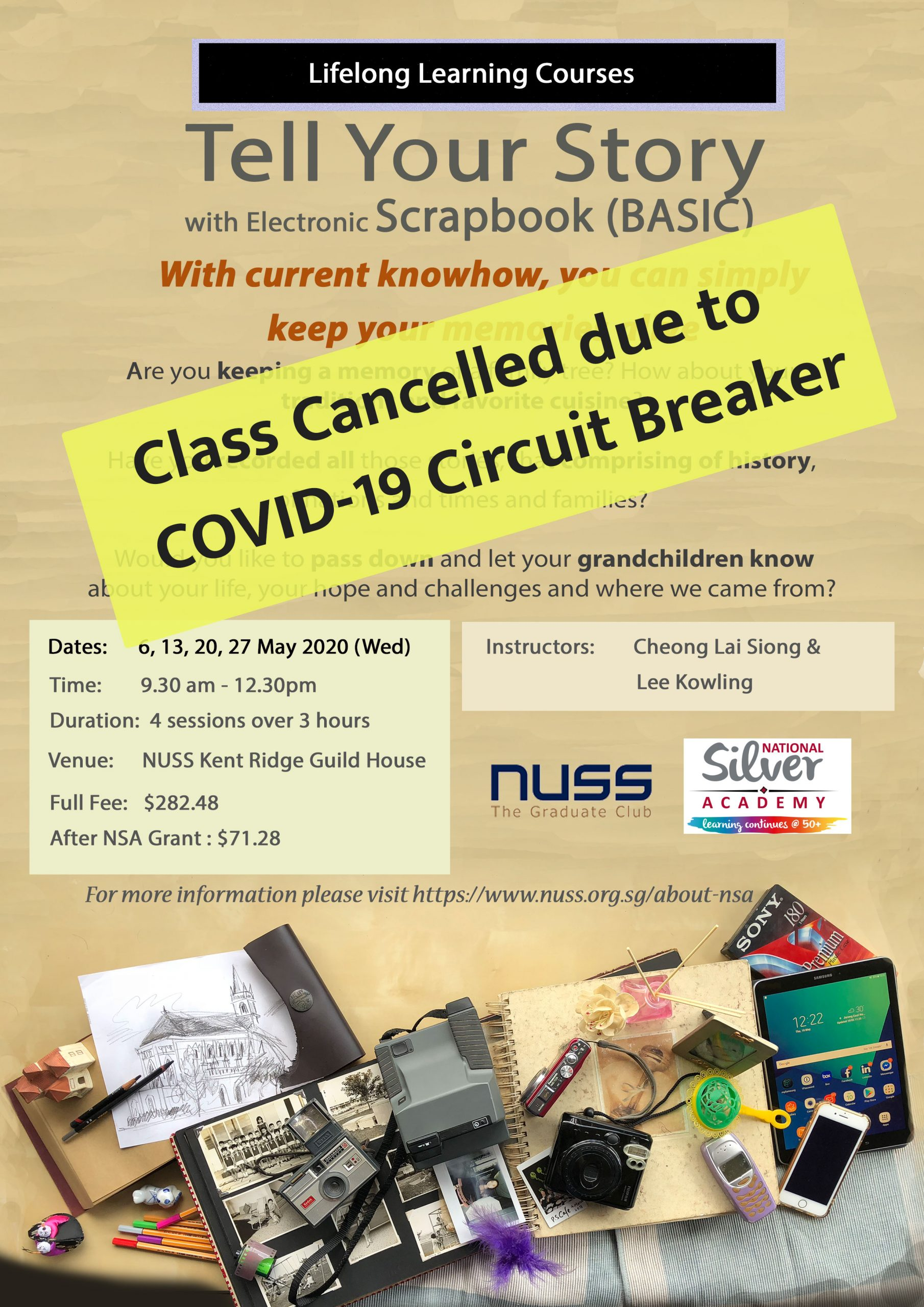 NUSS Class cancelled due to Circuit Breaker