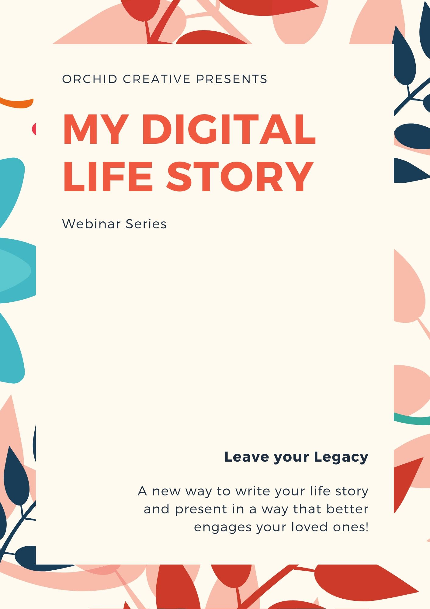 Webinar in Aug 2020 - My Life Story Page 1