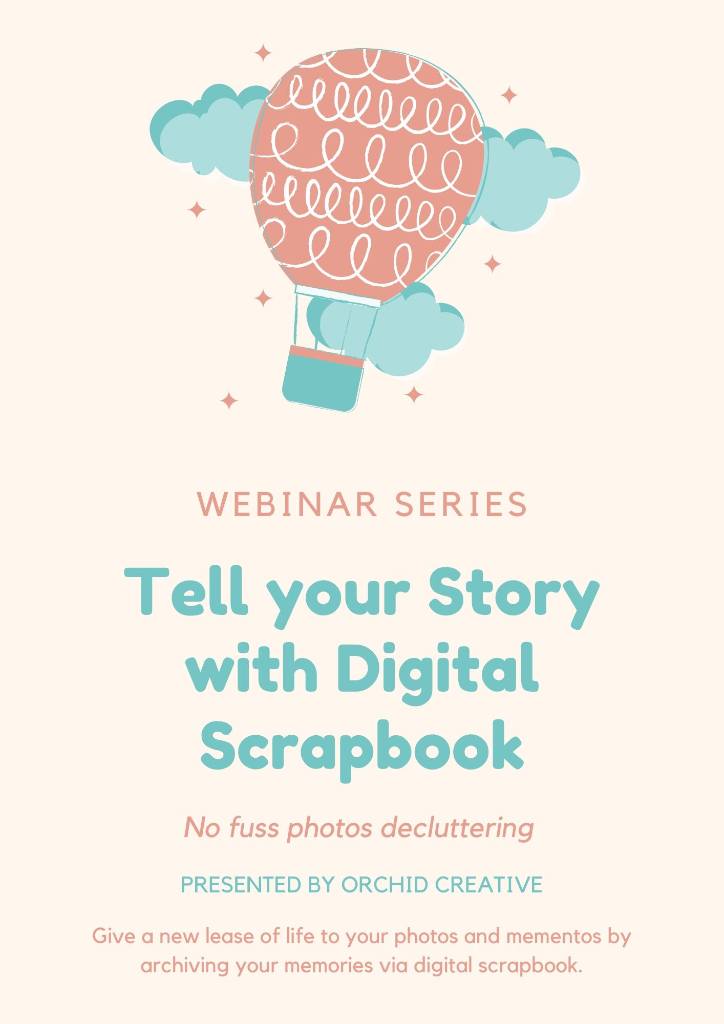 Tell Your Story with Digital Scrapbook Webinar Series