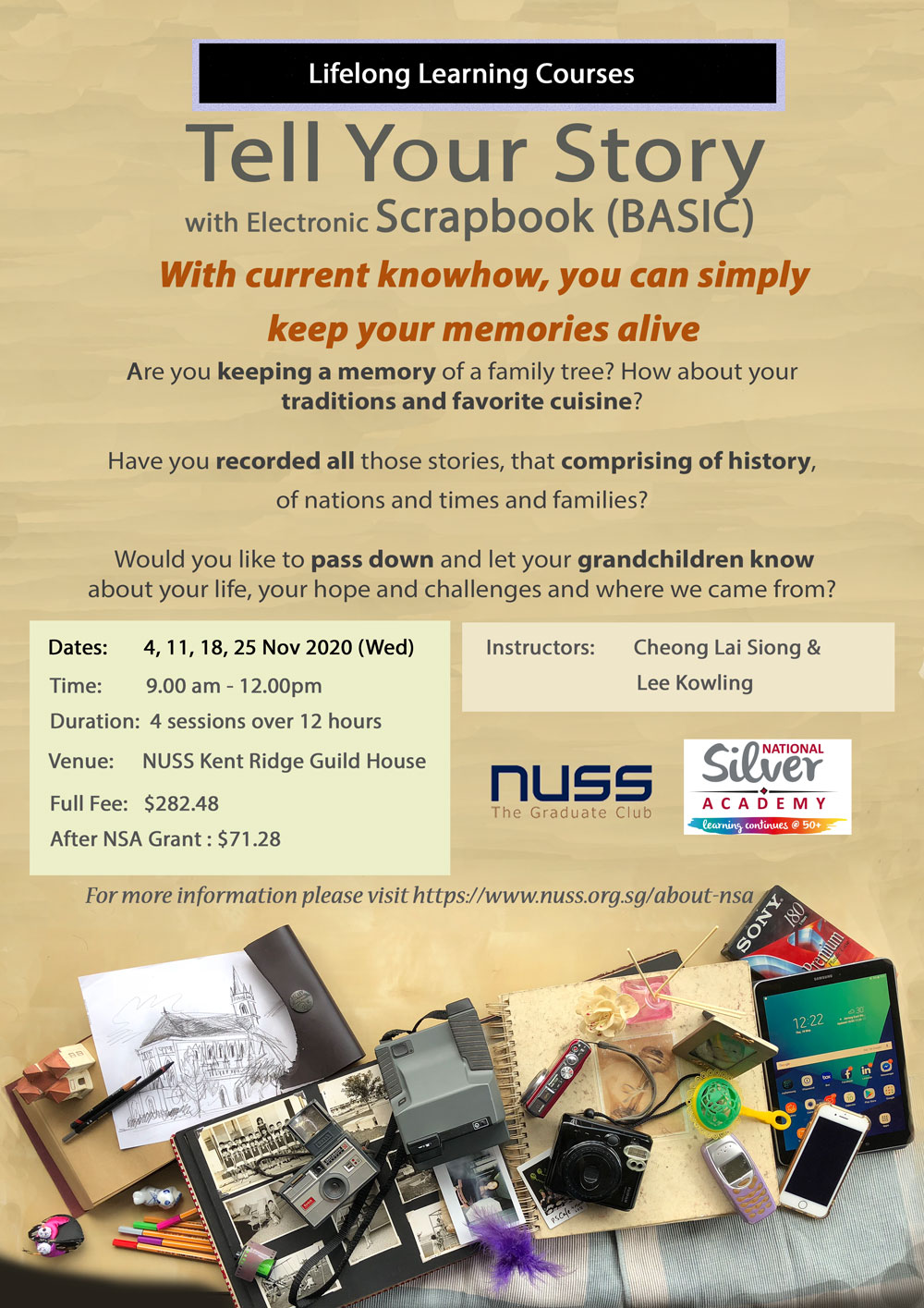 NUSS-BASIC-Class Tell Your Story with eScrapbook