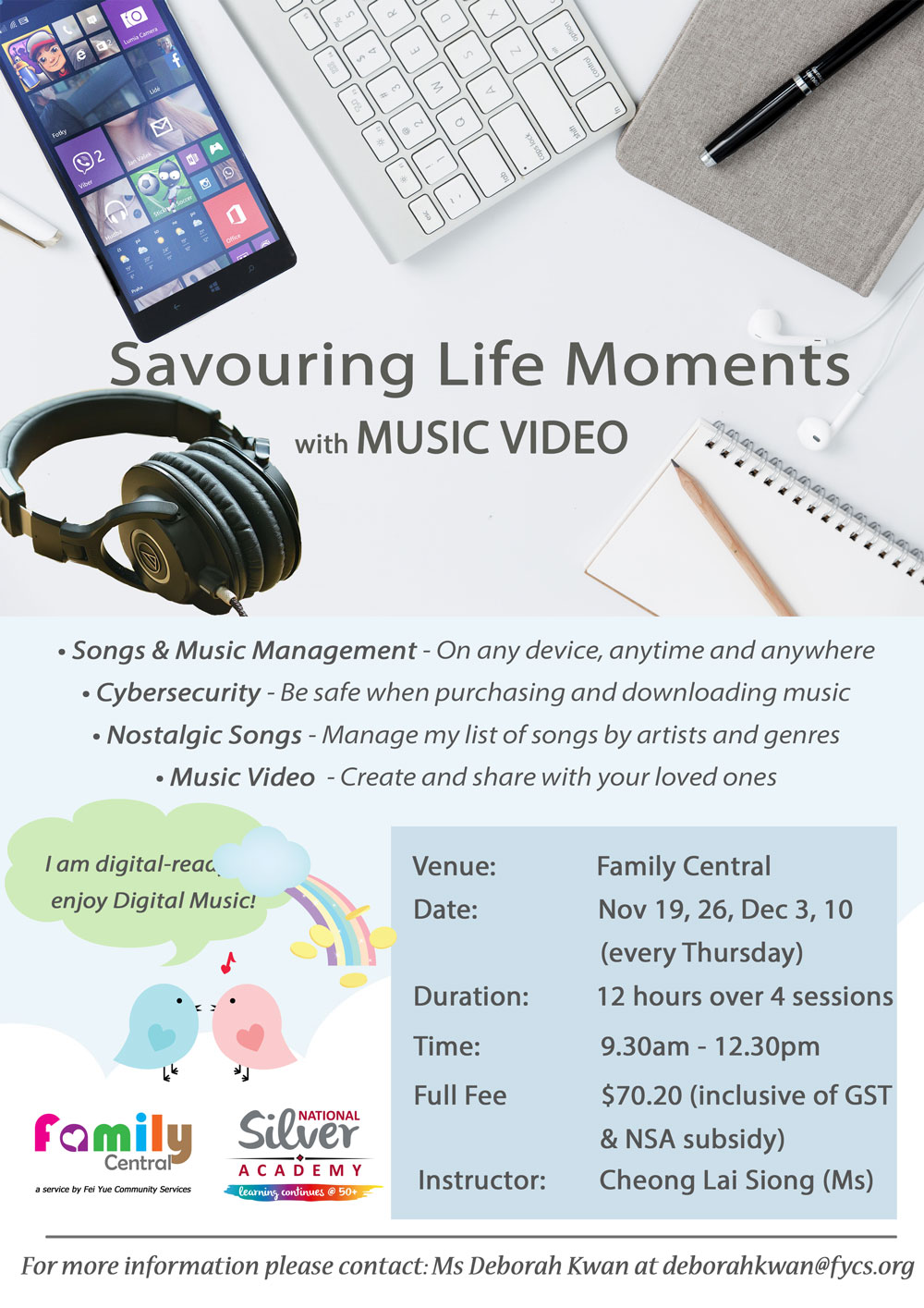 Savouring life moments with Music-Video English