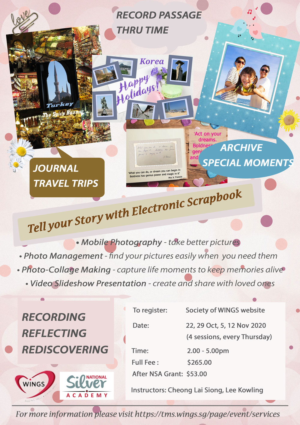 Society of WINGS Tell Y our Story with Electronic Scrapbook