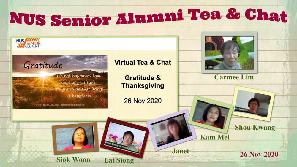 NUS Senior Alumni Tea and Chat